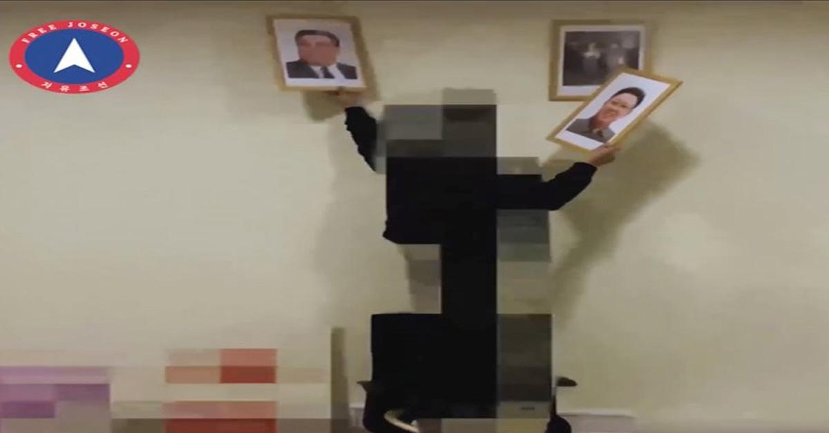 지난 2월 스페인 주재 북한 대사관 습격을 감행한 반북단체 '자유조선'이 3월 20일 공개한 영상 캡처본. 자유조선은 당시 영상을 공개하면서 촬영 장소는 설명하지 않았다. [자유조선 홈페이지 영상 캡처=연합뉴스]