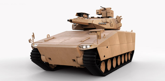 한화디펜스의 AS21 레드백. 미 육군의 차세대 전투차량(NGCV)에 도전장을 내밀었다. [사진 한화디펜스]