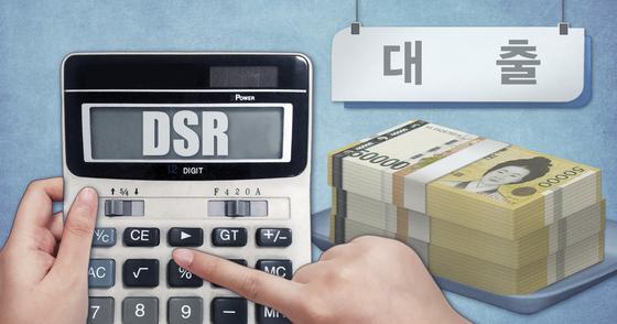 총부채원리금상환비율(DSR) 규제 이미지. [연합뉴스]