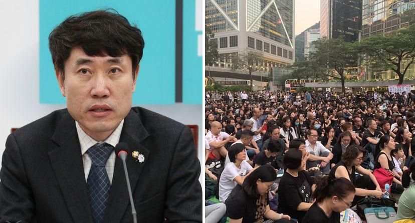 하태경 임을 위한 행진곡 부른 홍콩 시민도 종북이냐