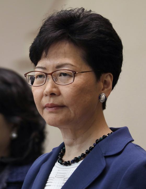 홍콩 행정수반인 캐리 람 행정장관. [AP=연합뉴스]