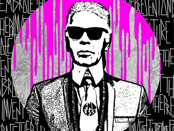 아티스트 엔들리스(Endless)가 그린 칼 라거펠트의 초상화. [사진 피티 이매지네]