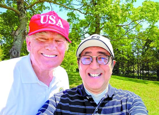 트럼프 대통령과 아베 총리. [아베 신조 일본 총리 트위터 캡처]