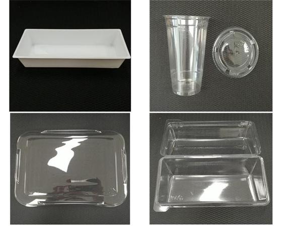 재활용 플라스틱을 사용한 식품 용기. [식약처 제공]