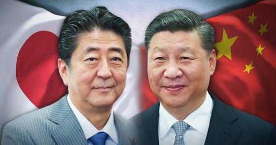 시진핑 국가주석과 아베 신조 총리[연합뉴스]