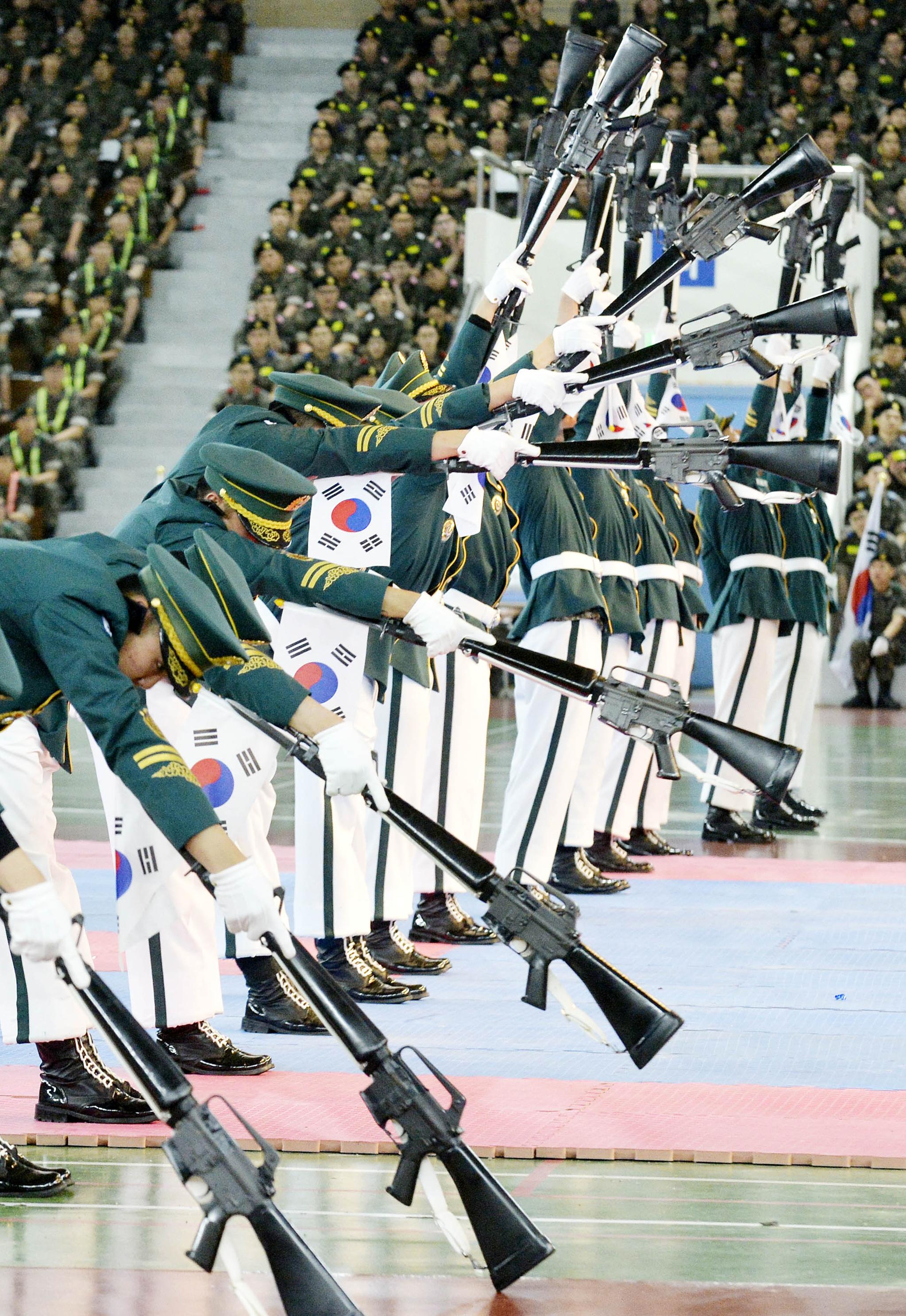 육군 의장대 시범장면. 프리랜서 김성태