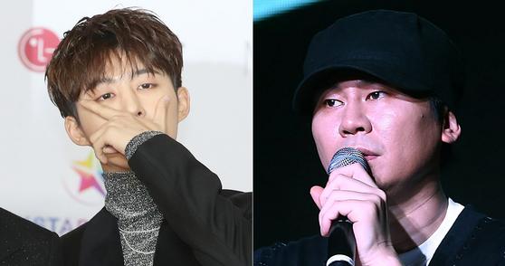 가수 비아이(왼쪽), 양현석 전 YG엔터테인먼트 전 대표 프로듀서 . [뉴스1, 연합뉴스]
