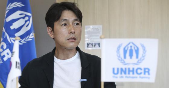 유엔 난민기구(UN HCR) 친선대사인 배우 정우성. 임현동 기자