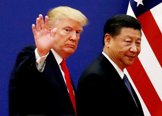 트럼프(左), 시진핑(右). [로이터=연합뉴스]
