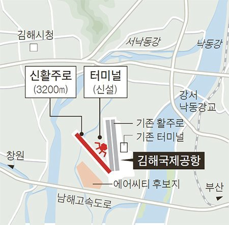 국토교통부의 김해신공항 건설 계획도. [제공 부산시]