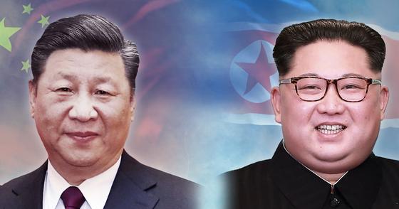 시진핑(習近平) 중국 국가 주석과 김정은 북한 국무위원장. [연합뉴스]