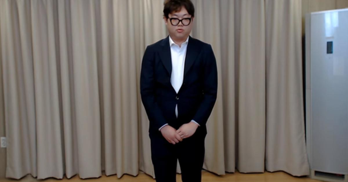 성희롱 논란 후 자신의 유튜브 채널에 사과 영상을 올린 BJ 감스트. [사진 유튜브]