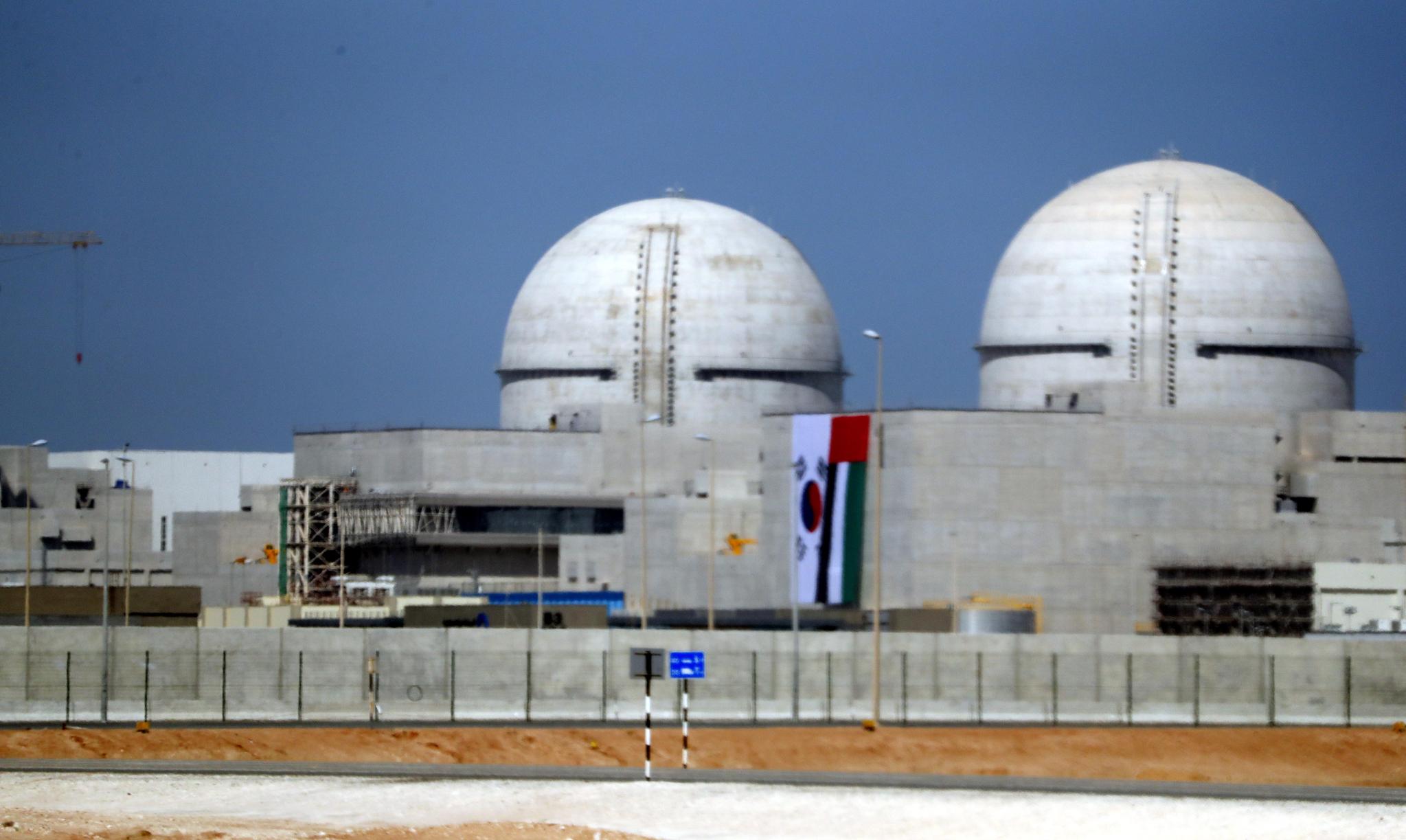 우리나라가 UAE에서 건설한 바라카 원전 1호기. [사진 청와대사진기자단]