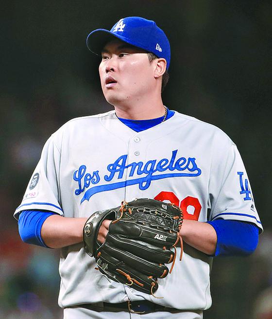LA 다저스 류현진이 23일 콜로라도전에서 시즌 10승에 도전한다. [AFP=연합뉴스]