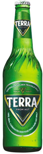 청정라거-테라는 호주 골든트라이앵글 지역의 맥아만을 사용하고, 리얼탄산만을 100% 담은 레귤러 맥주다. [사진 하이트진로]