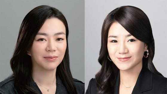 조현아 전 대한항공 부사장(왼쪽) 조현민 한진칼 전무./사진:한진그룹