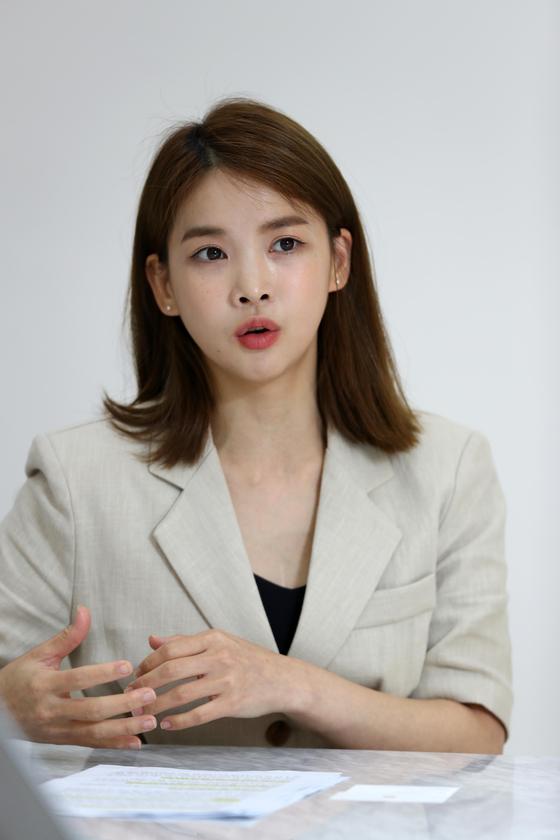 신애련 대표가 안다르의 전략을 설명하고 있다. 김상선 기자