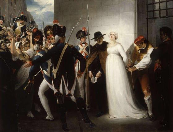 루이 16세의 왕비 마리 앙투아네트는 단두대에서 처형을 받기 직전에 푸아그라 요리를 먹고 싶어 했다. 그림은 마리 앙투아네트가 단두대로 끌려가는 모습. [사진제공=위키피디아]