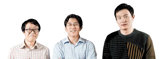 애니팡을 국민게임으로 만든 박찬석ㆍ이정웅ㆍ임현수 선데이토즈 창업자(왼쪽부터). [중앙포토]