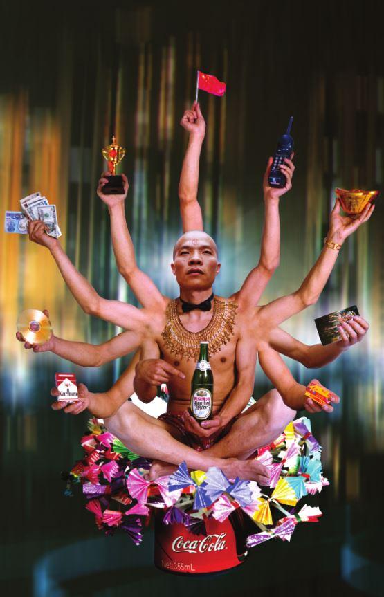 Requesting Buddha series No.1, 180x110cm, 1999