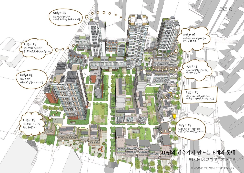 10명의 건축가가 8개의 동네로 설계한 5블록 3등작 '중간도시'의 모습.[사진 금성종합건축사사무소]
