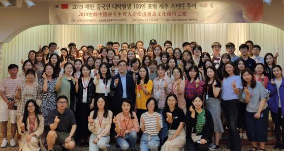 제주 스터디 투어 참가한 중국인 대학원생.