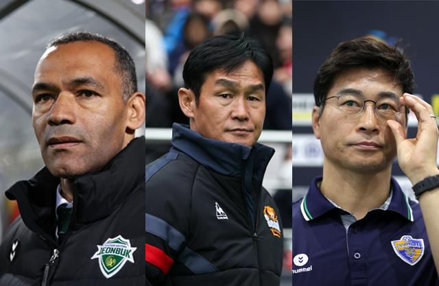 하나원큐 K리그1 3강 체제를 이루고 있는 전북 현대·FC서울·울산 현대. 사진=한국프로축구연맹