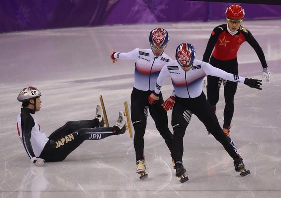 지난해 2월 평창올림픽에 출전한 남자 쇼트트랙 대표팀. [중앙포토]