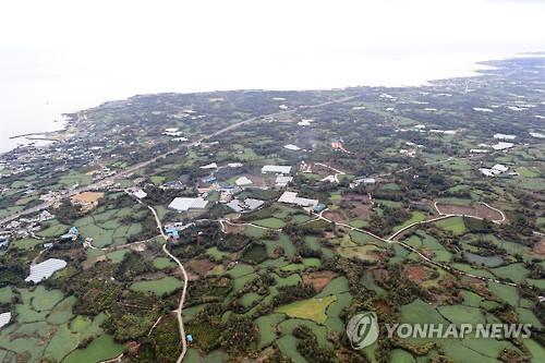 2025년 제주 제2공항이 들어설 서귀포시 성산읍 일대. [연합뉴스]