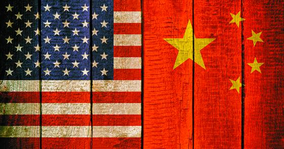 미국과 중국의 국기. [중앙포토]