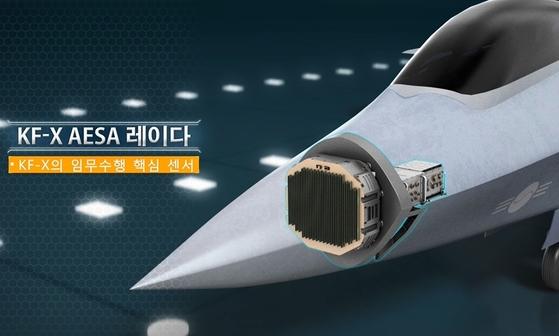 국내에서 개발하는 AESA 레이더는 한국형 전투기(KF_X)의 핵심기술이다. [국방과학연구소 제공]