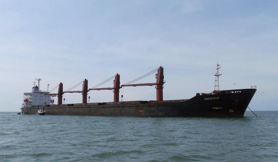 미국이 대북제재 위반 혐의로 압류한 북 화물선 '와이즈 어니스트호'./사진:미 법무부