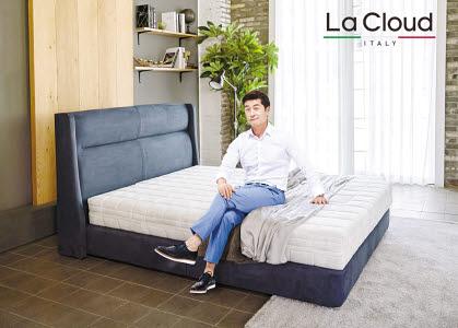 라클라우드는 100% 천연 라텍스 침대로 탄성과 복원력이 탁월하다.