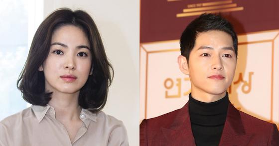 이혼 조정 신청에 들어간 배우 송혜교와 배우 송중기 [사진 중앙일보]