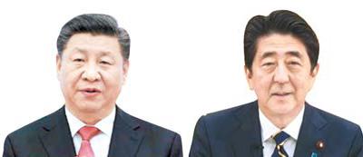 시진핑(左), 아베(右)