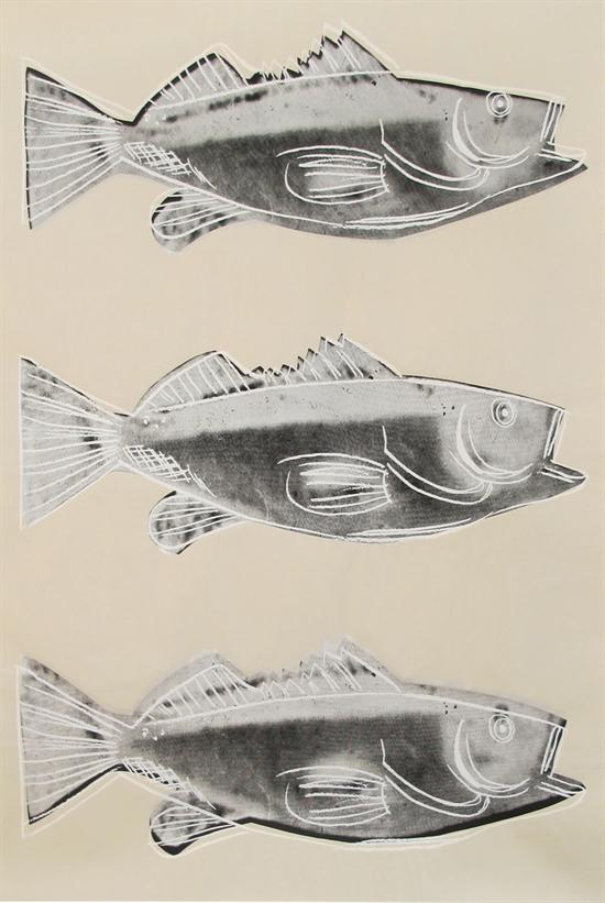 앤디 워홀, 'FISH'(컬러 스크린프린트,117.7676.2㎝). [사진 갤러리 B.]