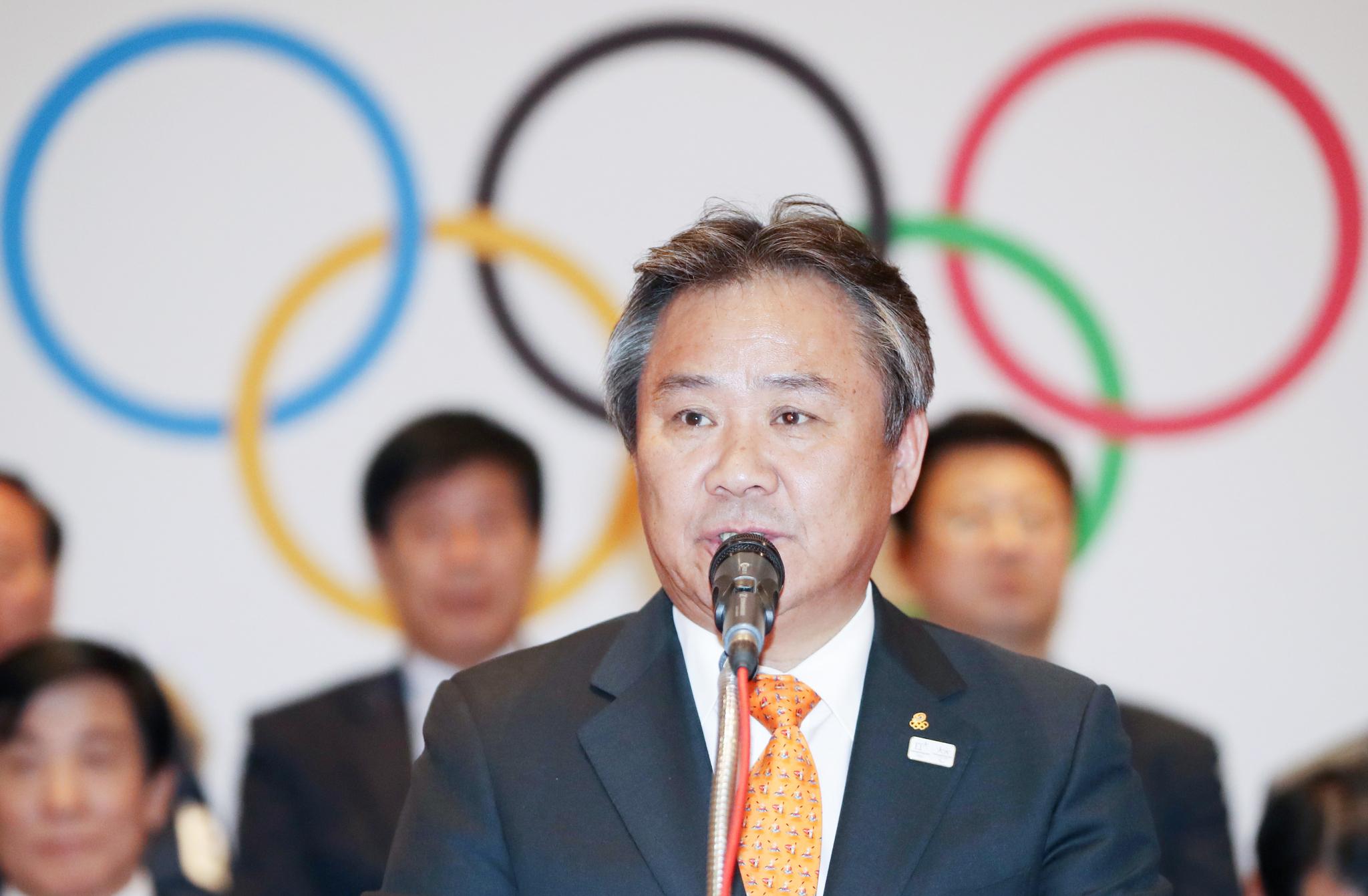 이기흥 대한체육회장이 26일(한국시간) 스위스 로잔에서 열린 제134차 국제올림픽위원회(IOC) 총회에서 IOC 신규위원으로 선출됐다. [연합뉴스]