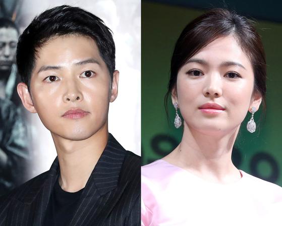 배우 송중기(왼쪽)와 송혜교. [뉴스1]