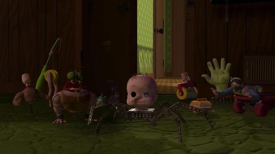 시드의 장난감은 모두 이런 모양이랍니다. 으스스하죠. [사진 디즈니]