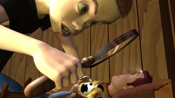 그러나 이들은 공교롭게도 앤디의 옆집 악동, 시드의 손에 들어갑니다. 시드는 장난감 폭발, 분해가 특기입니다. [사진 디즈니]