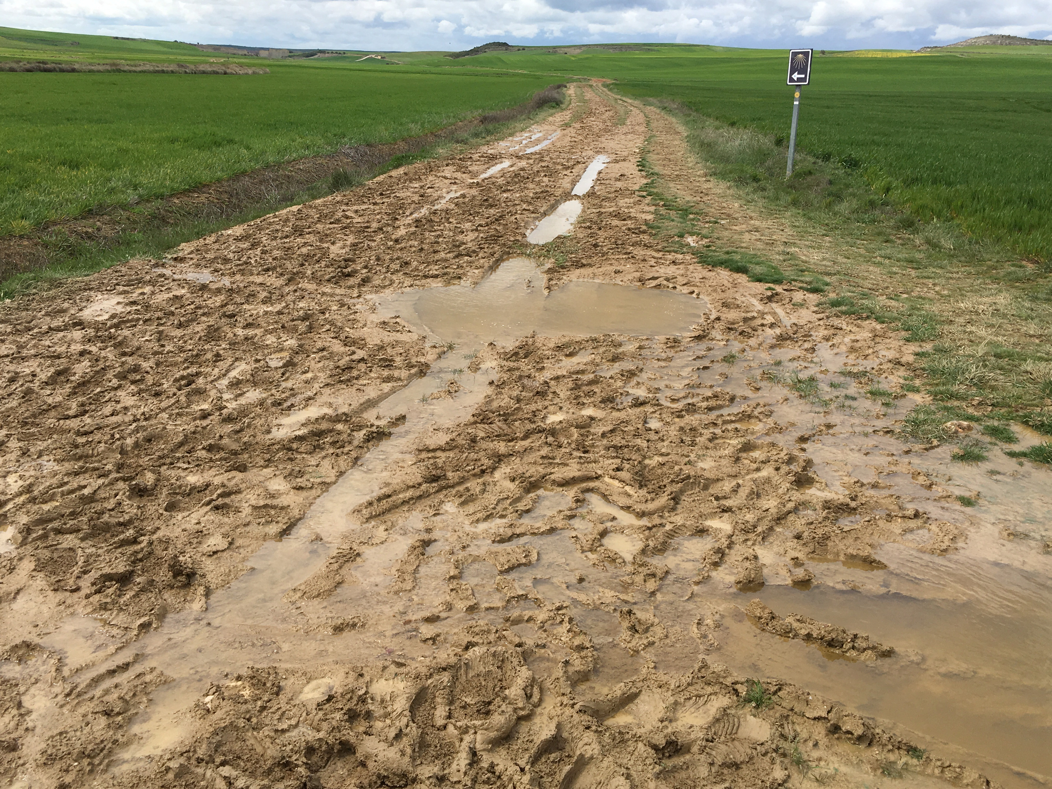 발목까지 빠지는 진흙탕 길, 돌아서 갈 길은 없다. 고난을 끝내는 방법은 단 하나다. 결국 지나가야할 길이니 그저 한 발을 떼는 것뿐이다.