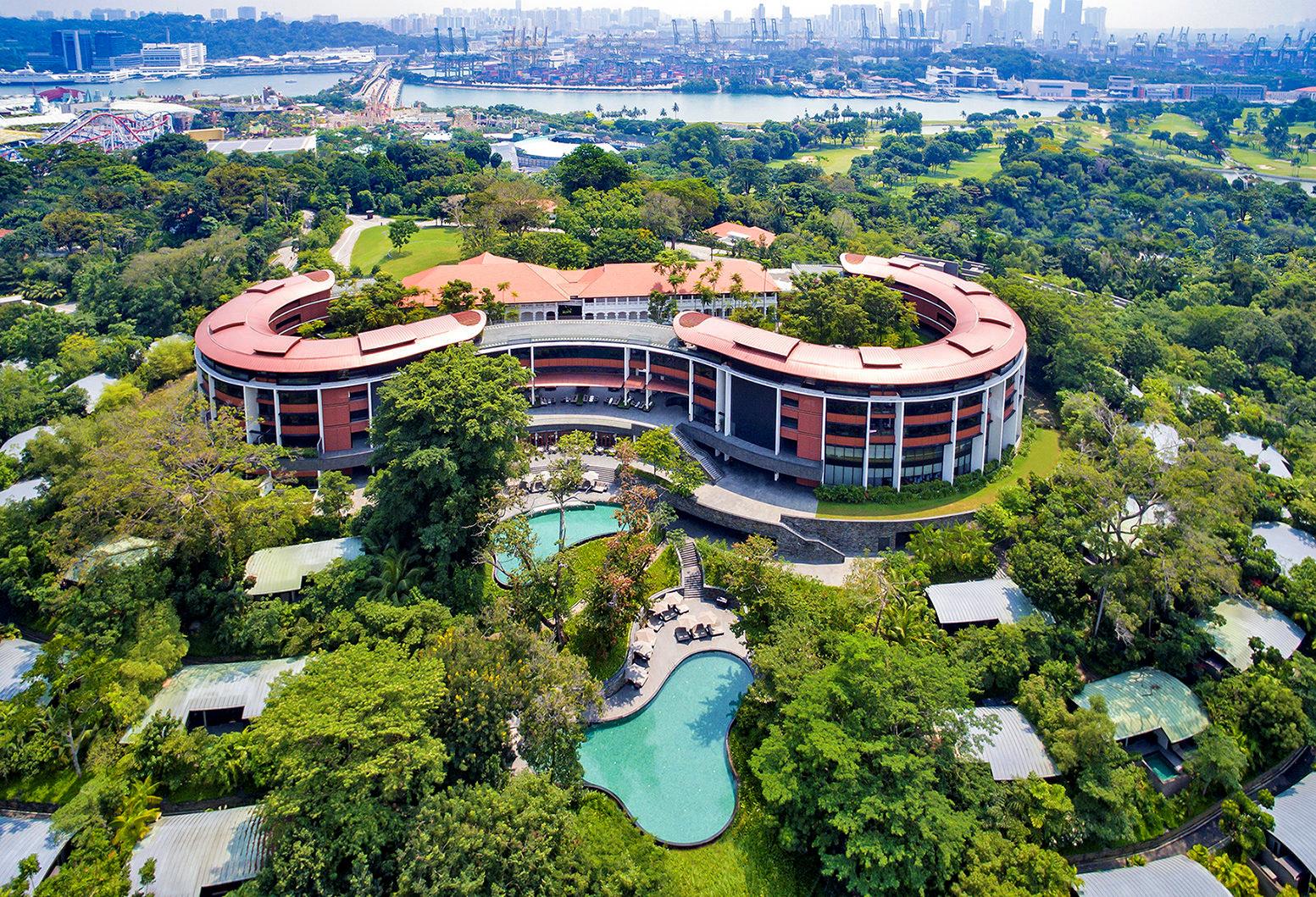 1차 정상회담의 회담장이었던 싱가포르 센토사섬의 카펠라 호텔. [AP=연합뉴스]