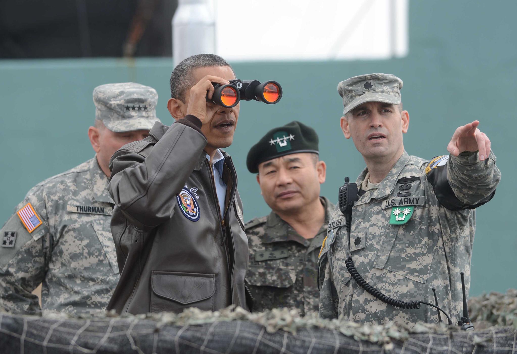 2012년 3월 25일 DMZ를 방문한 버락 오바마. [연합뉴스]