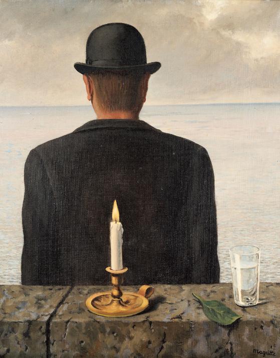 르네 마그리트 그림 '사이렌의 노래'(1953). 지난 3월 72억 4200만원에 낙찰됐다. [사진 서울옥션]