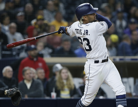 페르난도 타티스의 아들 주니어. 원래 이름은 페르난도 가브리엘 타티스 메디나지만 아버지의 이름을 MLB 등록명으로 정했다. [AP=연합뉴스]