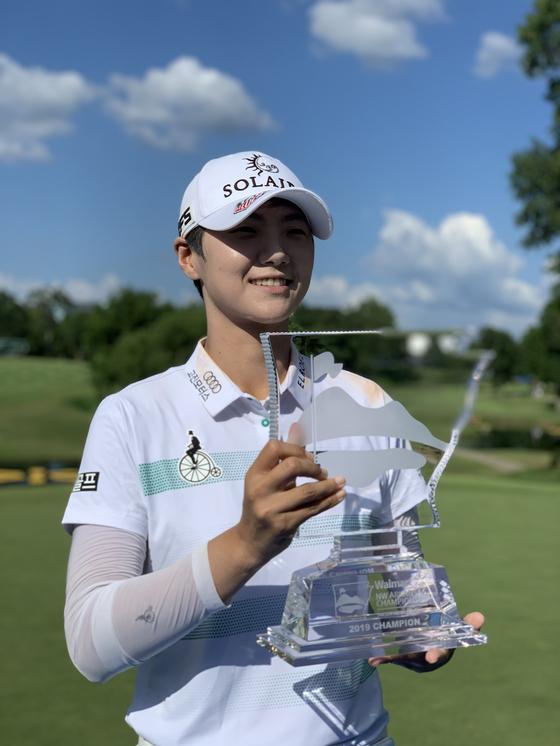 1일 LPGA 투어 월마트 NW 아칸소 챔피언십에서 우승한 박성현. [사진 세마스포츠마케팅]