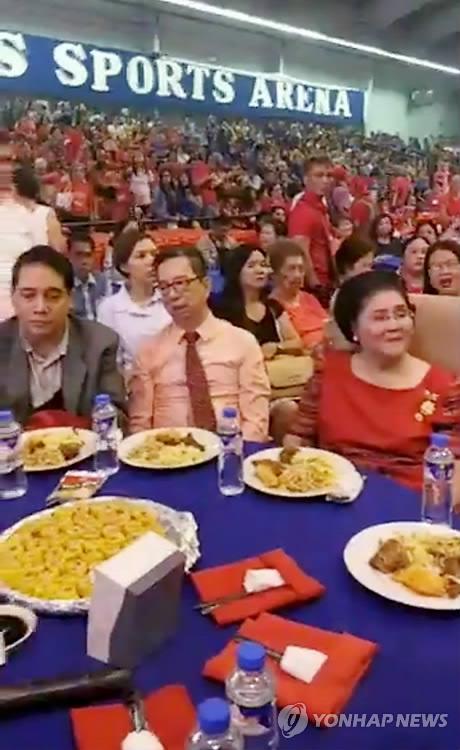 필리핀 '사치의 여왕' 이멜다 구순 잔치. [로이터=연합뉴스]