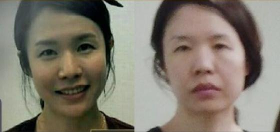 고유정의 과거와 현재 얼굴. 왼쪽 사진은 JTBC가 오는 4일 공개할 고유정의 과거사진. [JTBC 방송 캡처]