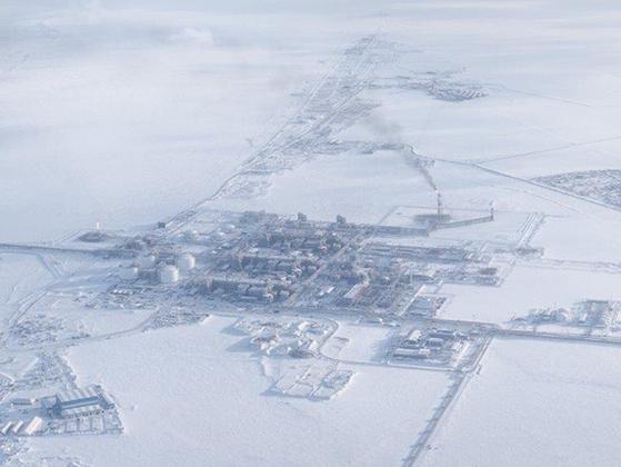 러시아 액화천연가스(LNG) 사업자 노바텍이 야말반도에 세운 첫 번째 북극 LNG 생산기지인 야말 기지. 노바텍은 후속 사업인 '북극 LNG-2' 기지를 2020년 착공할 계획이다. [사진 노바텍]
