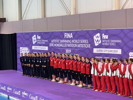 지난 6월 은메달을 획득한 캐나다오픈 시상식. [사진 김효미]